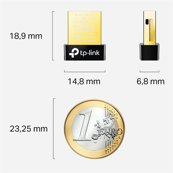 TP-LINK Bluetooth 4.0 Nano USB Adapter, Nano Size, USB 2.0