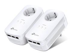 TP-LINK TL-PA8030PKIT AV1300 Passthrough Powerline KIT,Qualcomm, 3 Gigabit Ports, 1300Mbps Powerline , 2*2 MIMO