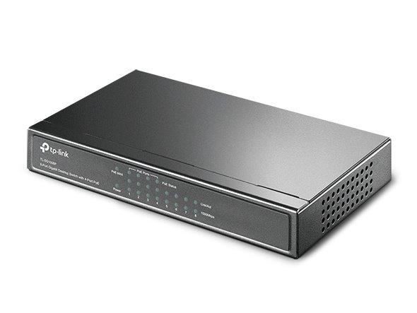 TP-LINK TL-SG1008P 8-Port Gigabit Desktop PoE Switch, 8 Gigabit RJ45 Ports including 4 PoE Ports