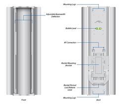 Ubiquiti 5GHz AirMax BaseStation, Mid Gain, Variable 60-120, Titanium (sektorová anténa bez rocket)