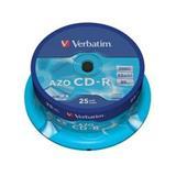 Verbatim - CD-R 700MB 52x Crystal 25ks v cake obale