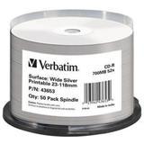 Verbatim CD-R, 700MB, 52x WIDE SILVER INKJET Printable No ID 50ks v cake obale