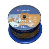 Verbatim - DVD-R 4,7GB 16x Printable 50ks v cake obale