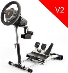 Wheel Stand Pro DELUXE V2, stojan na volant a pedály pre Porsche GT2 /CSR /CSP wheels černý